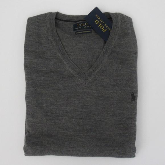 99e99fcf Ralph Lauren Washable Merino Wool V-neck Sweater NWT